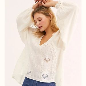 NWT FREE PEOPLE IVORY SIVAN TOP
